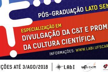Especialização em Divulgação da Ciência e da Tecnologia na UFSCar