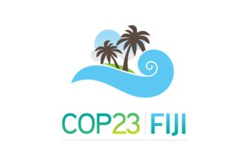"Logotipo da COP 23 em Mídia e Ciência ""COP como Copa"""